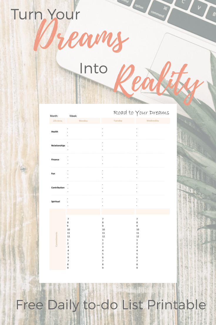goal setting worksheet printable